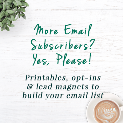 More email subscribers - yes please