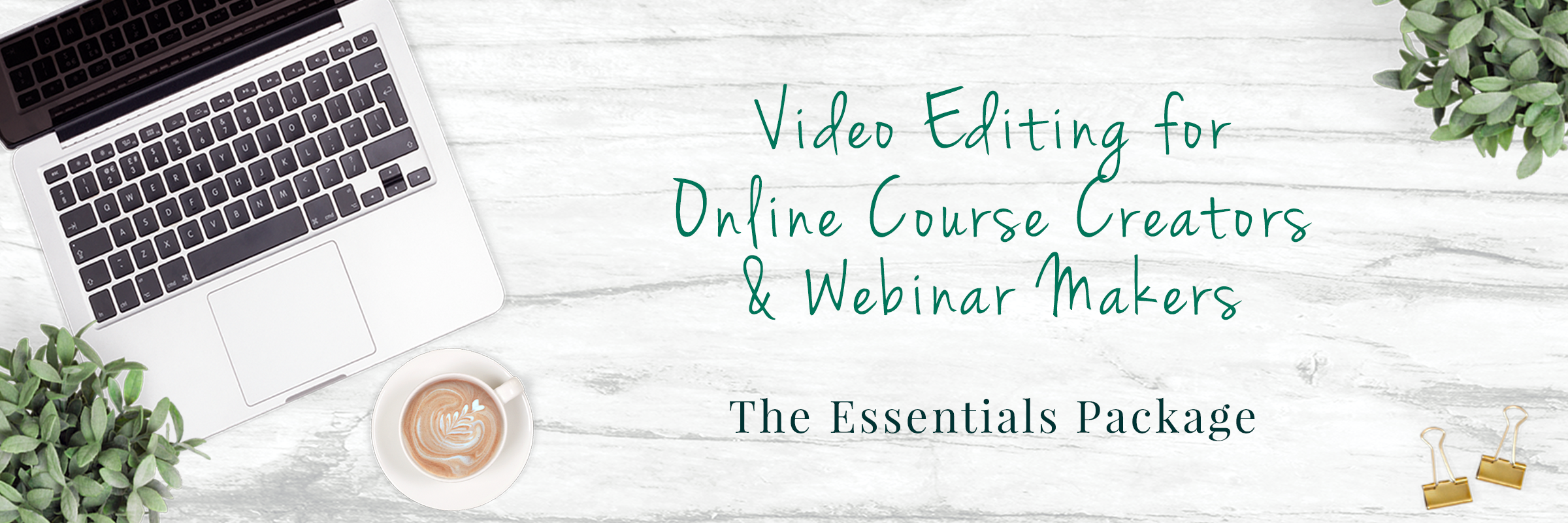 Webinar Video Editing Slider includes course creators 2400 x 800 – 2020